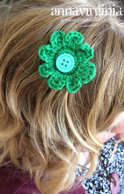 [Free Pattern] Quick And Cute Hair Flower No-Slip Clips Accessories