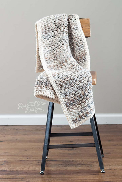 "[Free Pattern] The Perfect ""Go-To Easy Crocheted Blanket Pattern"