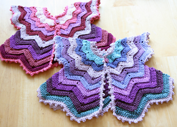 [Video Tutorial] This Baby Chevron Cardigan Free Crochet Pattern Will Make Your Day!