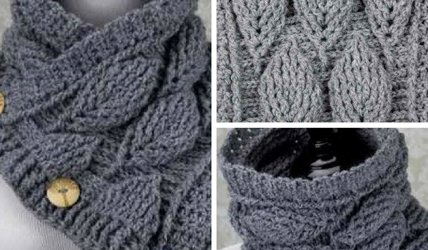 Video Tutorial Amazing Crochet Leaf Stitch Cowl Thatll Make