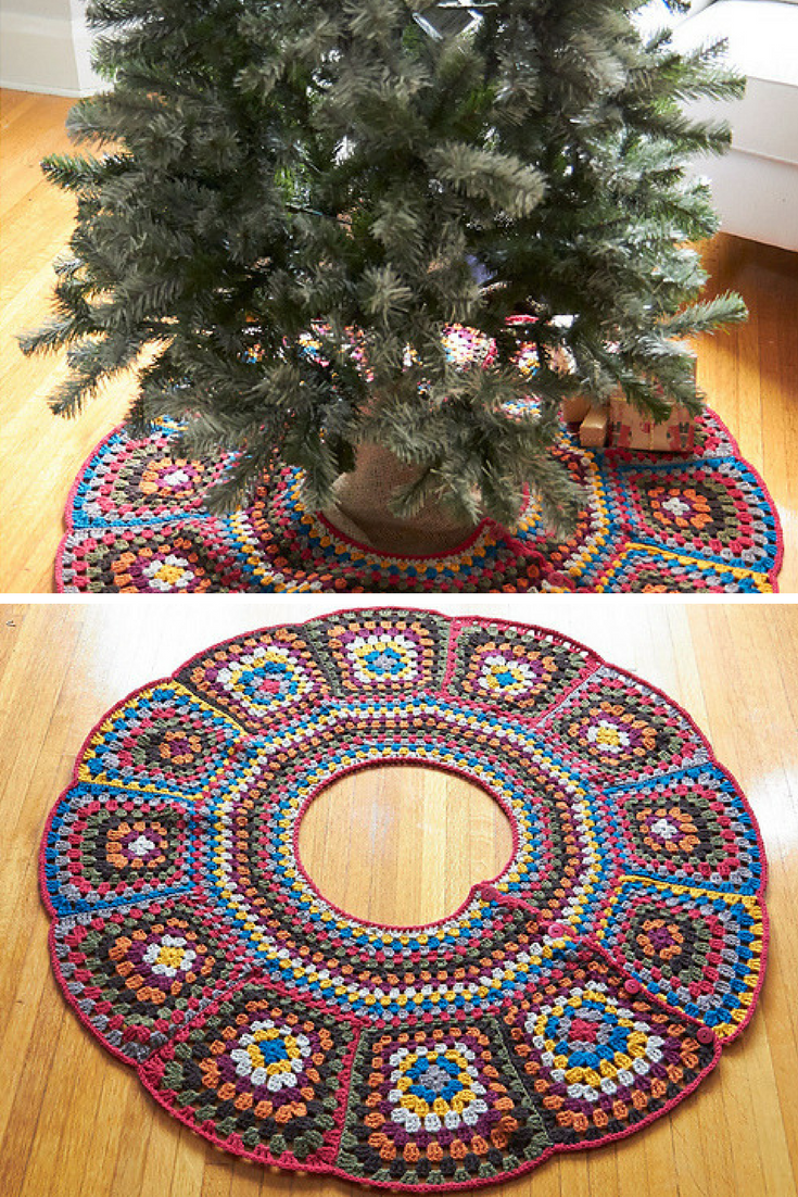10crochet christmas tree skirt free patterns