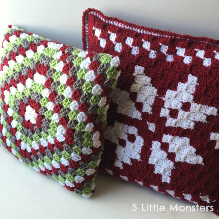 Free Patterns Christmas Pillows You ll Love Knit And Crochet Daily