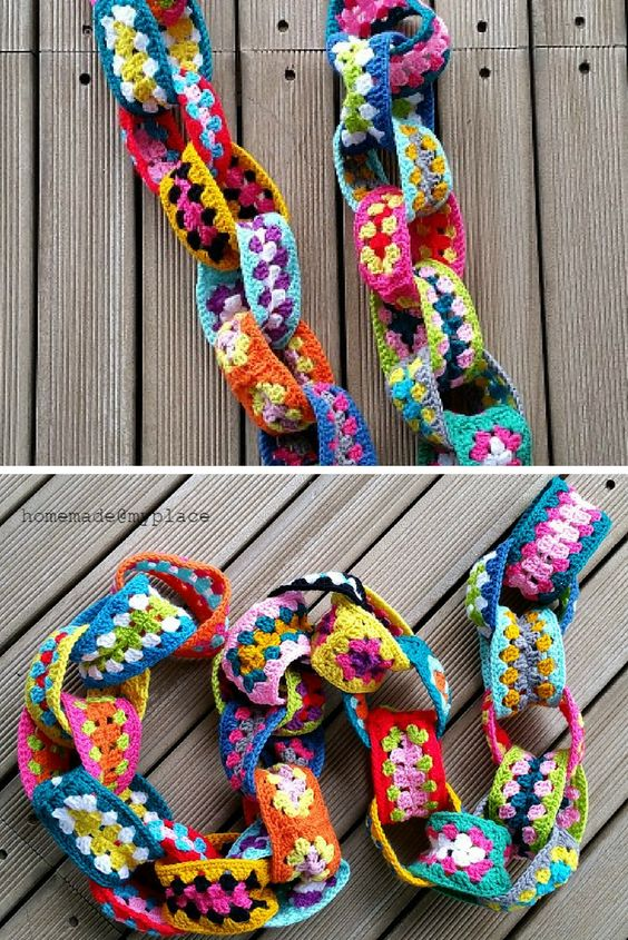 [Free Pattern]  Easy And Really Addictive Granny Yarn Chain