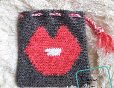 Free Pattern Cutest Valentine Gift Bag Ever Knit And Crochet Daily