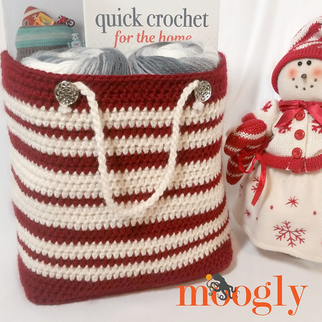 [Free Pattern] Use Your Stash And Re-Use A Bag- This Precious Gift Bag Is A Win Win.