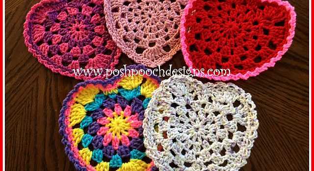 These Granny Style Heart Doilies Add A