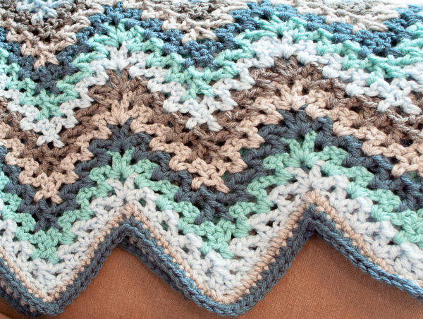 Free Pattern] Super, Super Simple And Beautiful Vintage-Style Ripple Stitch Afghan Pattern