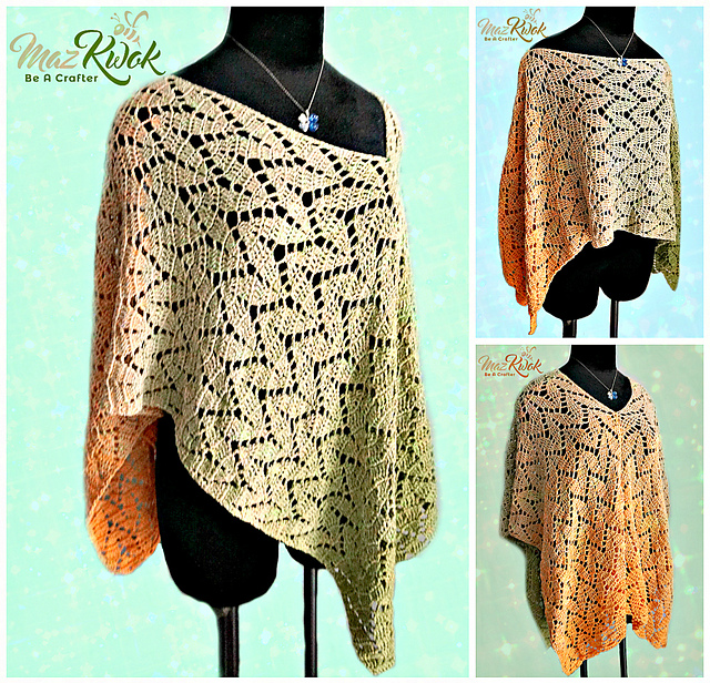 Free Pattern Versatile Crochet Poncho Design For Spring Time Knit