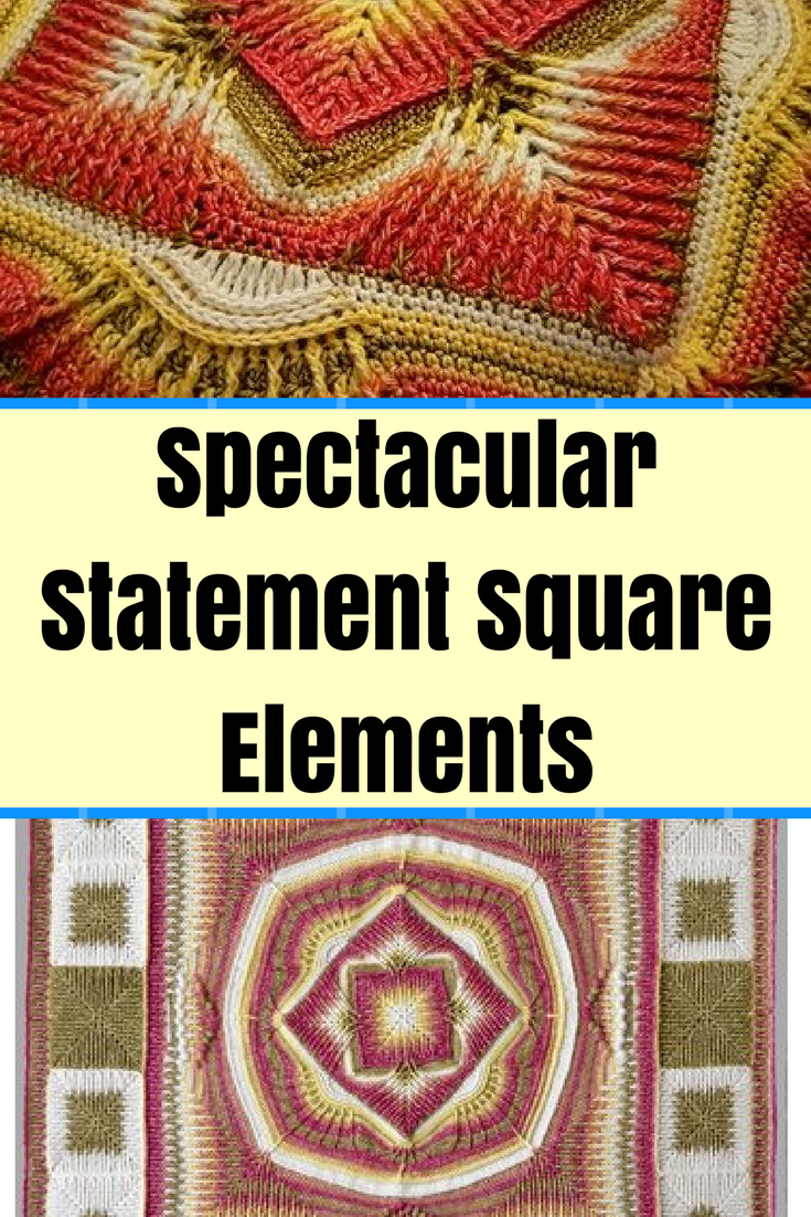 "[Free Pattern] Give Your Home That ""Wow"" Factor With These Spectacular Statement Square Elements Piece"