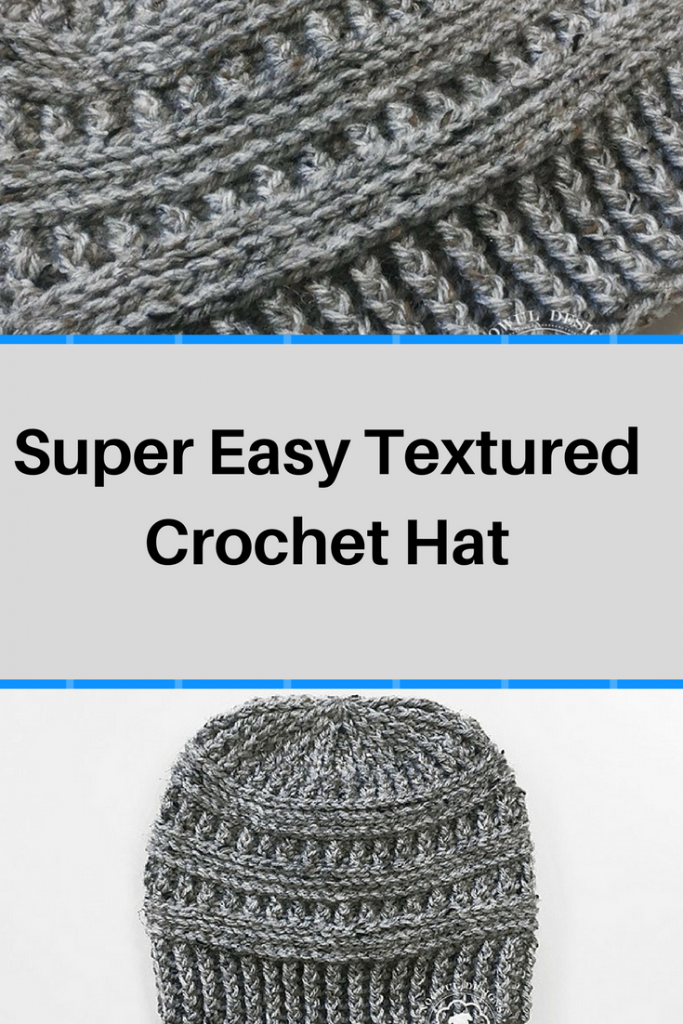 Free Pattern  Super Easy Textured Crochet Hat - Knit And Crochet Daily dd760ca58fd