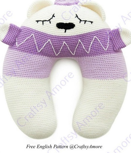 Free Pattern The Perfect Childs Travel Neck Pillow Crochet Pattern