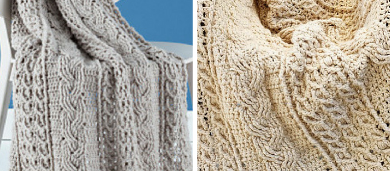 Free Pattern Were Crazy For This Mesmerizing Cable Crochet Afghan