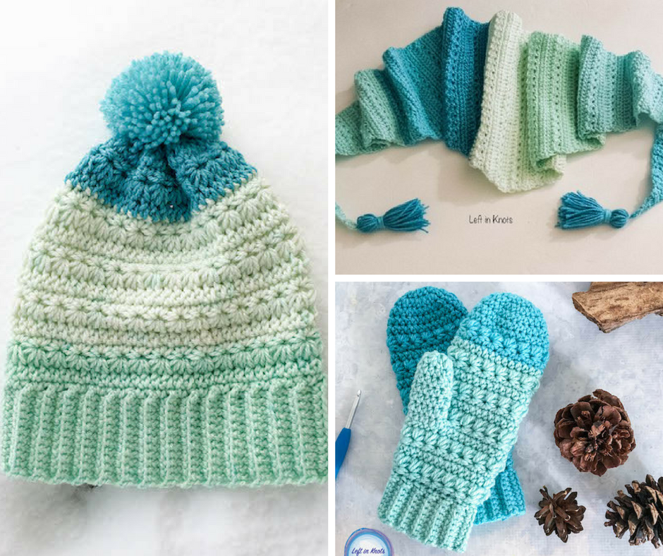 [Free Pattern] Fabulous 3 Piece Hat, Scarf & Gloves Women's Winter Set