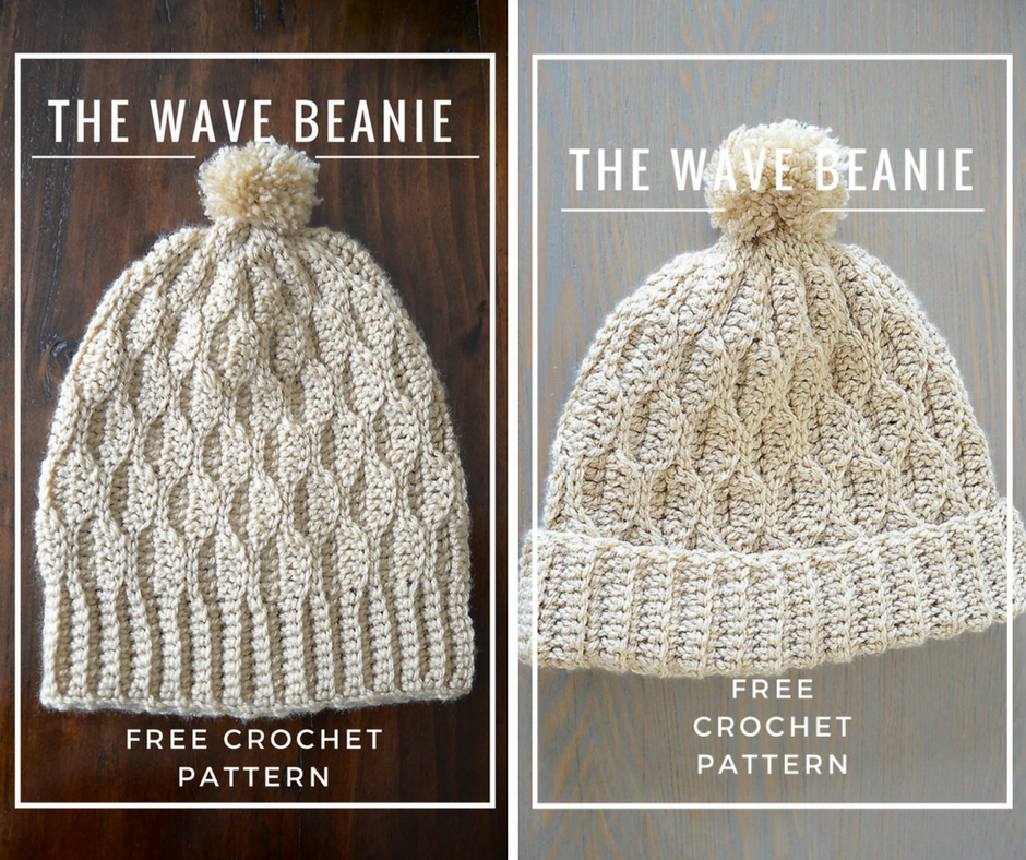 [Free Pattern] Wave Stitch Beautiful Beanie