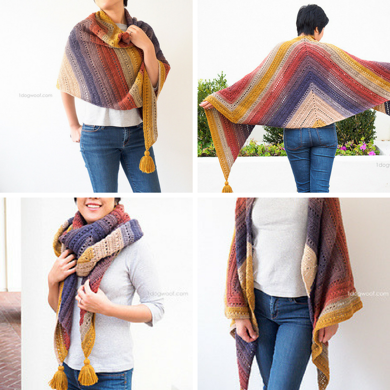 [Free Pattern] Deceptively Simple And Magically Attractive Wrap Perfect For On-The-Go Crocheting
