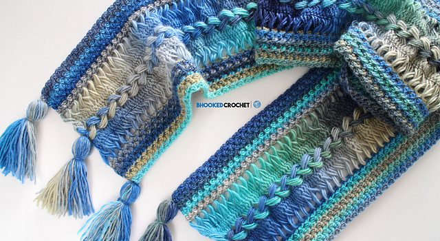 Free Pattern Amazingly Stylish Waves Hairpin Lace Scarf Youll Want