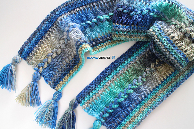 [Free Pattern] Amazingly Stylish Waves Hairpin Lace Scarf You'll Want To Wear Immediately
