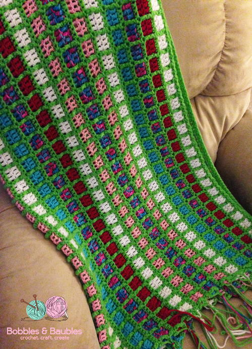Free Pattern Easy Stash Buster Afghan For Mindless