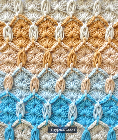 Learn A New Crochet Stitch: Honeycomb And Shells Stitch