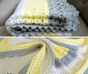 [Free Pattern] Superbly Simple Baby Blanket For Mindless Crocheting In Front Of The TV