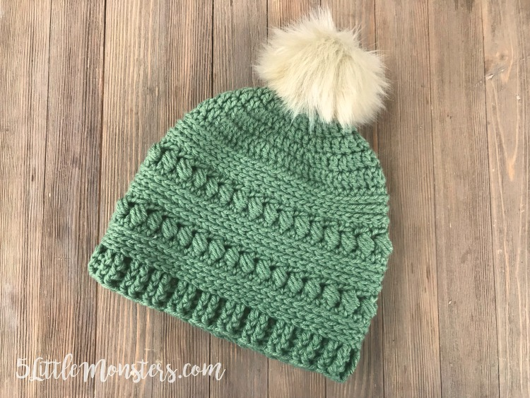 [Free Pattern] Lovely Bead Stitch Crochet Hat