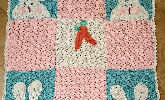 Free Pattern] This Cute Bunny Blanket Will Delight Baby For ...