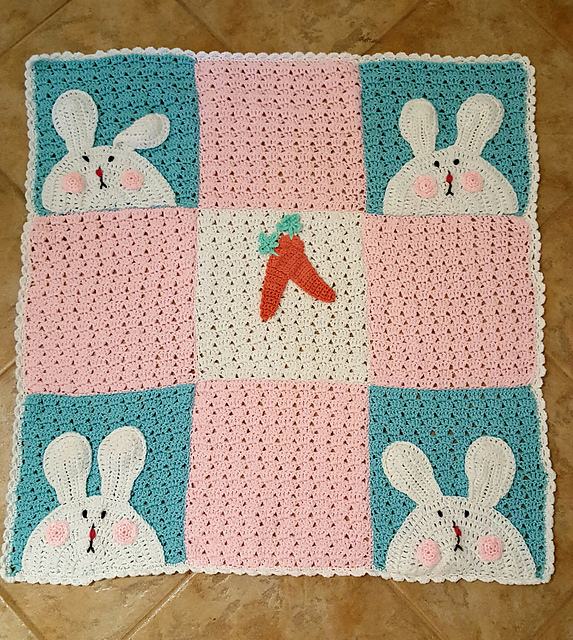 [Free Pattern] This Cute Bunny Blanket Will Delight Baby For Naptime Or Playtime