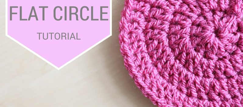 Video Tutorial How To Crochet A Flat Circle Using Double Crochet
