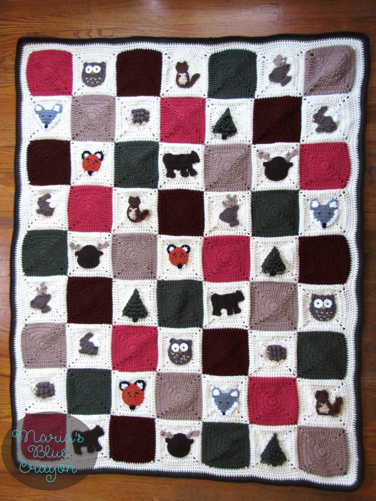 [Free Pattern] Absolutely Adorable Woodland Granny Square Afghan Crochet Pattern