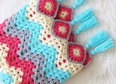Easy To Work Granny Ripple Afghan That Brings Spring Right Into Your