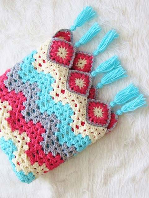Easy To Work Granny Ripple Afghan That Brings Spring Right ...
