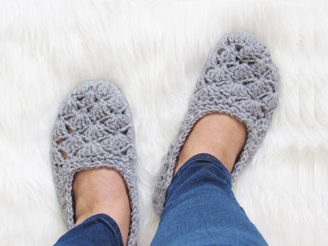 Easy Beginner Crochet Slipper Pattern [Free Pattern]