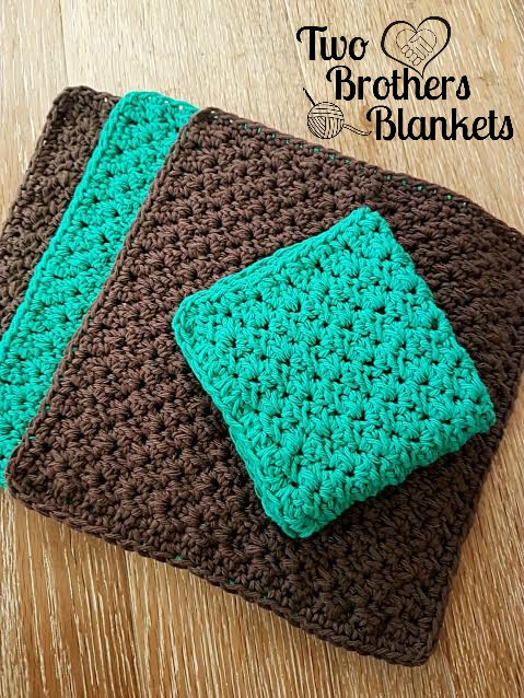 [Free Pattern] Amazingly Beautiful Boston Stitch Combo Washcloth With The Perfect Texture For Washing Dishes Or Soaking In The Tub
