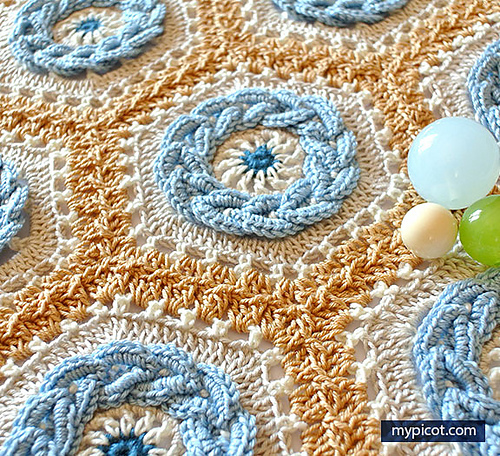 [Free Pattern] The Most Beautiful Crochet Cable Hexagon Ever!