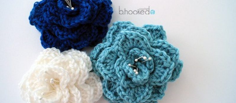 Quick And Easy Crocodile Stitch Flower Free Pattern Knit And