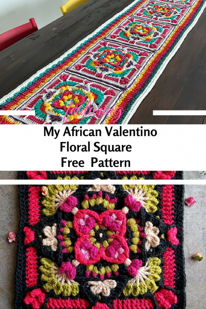 [Free Pattern] Beautiful Valentine's Inspired Texture-Rich Square Pattern