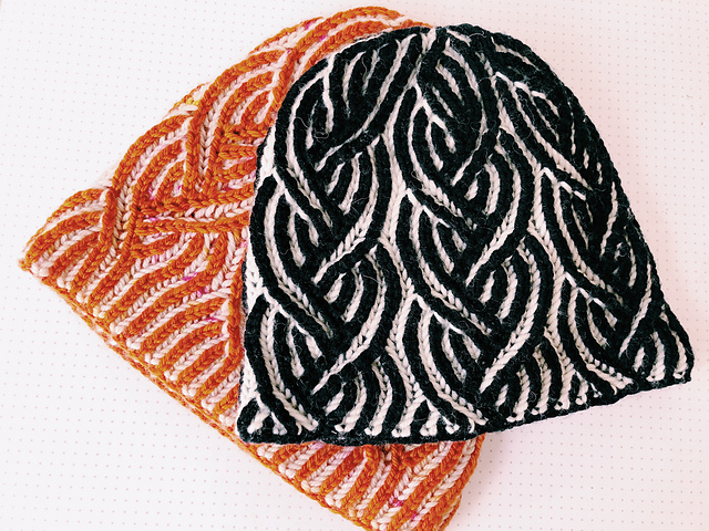 Brilliant Two-Color Brioche Hat Free Knitting Pattern