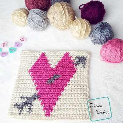 How To Tapestry Crochet A Beautiful Tapestry Heart Afghan Square