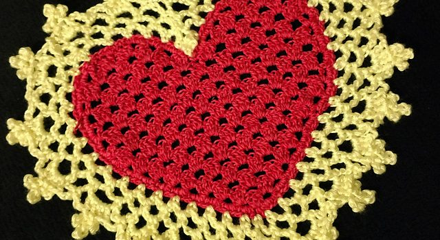 Lovely Heart Coaster Or Mini Doily To Crochet For That Special Someone You  Love - Knit And Crochet Daily