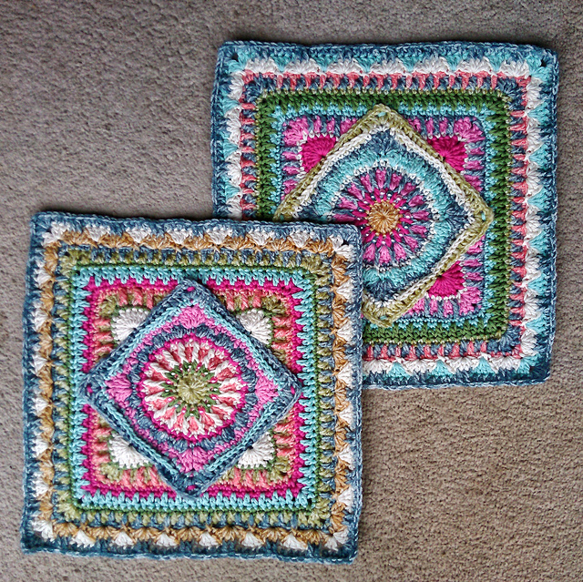 [Free Pattern] Very Clever Crochet Square With Inspiring Design And Colorways