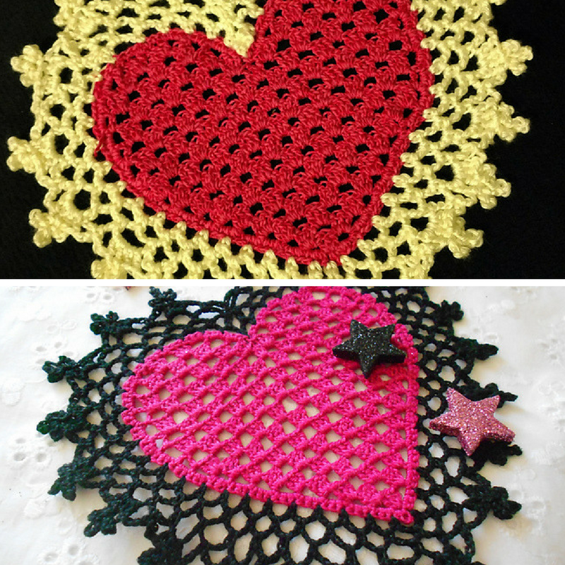 Lovely Heart Coaster Or Mini Doily To Crochet For That Special Someone You Love
