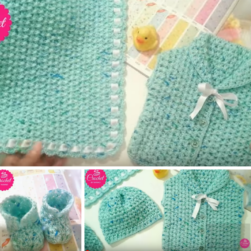 Quick And Easy Crochet Baby Gift Set [Video Tutorial]