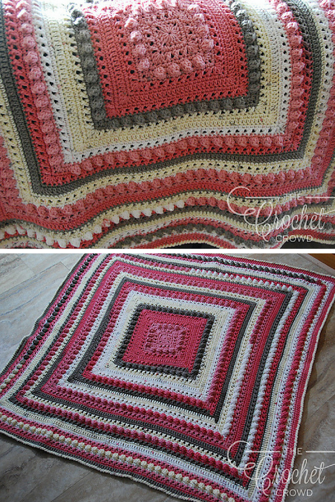 [Free Pattern] The Most Huggable Crochet Love Blanket In The World!