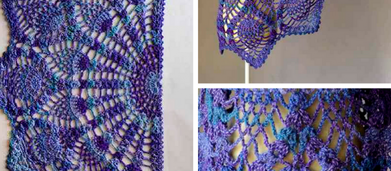 Free Pattern This Seriously Beautiful Pineapple Peacock Shawl Is
