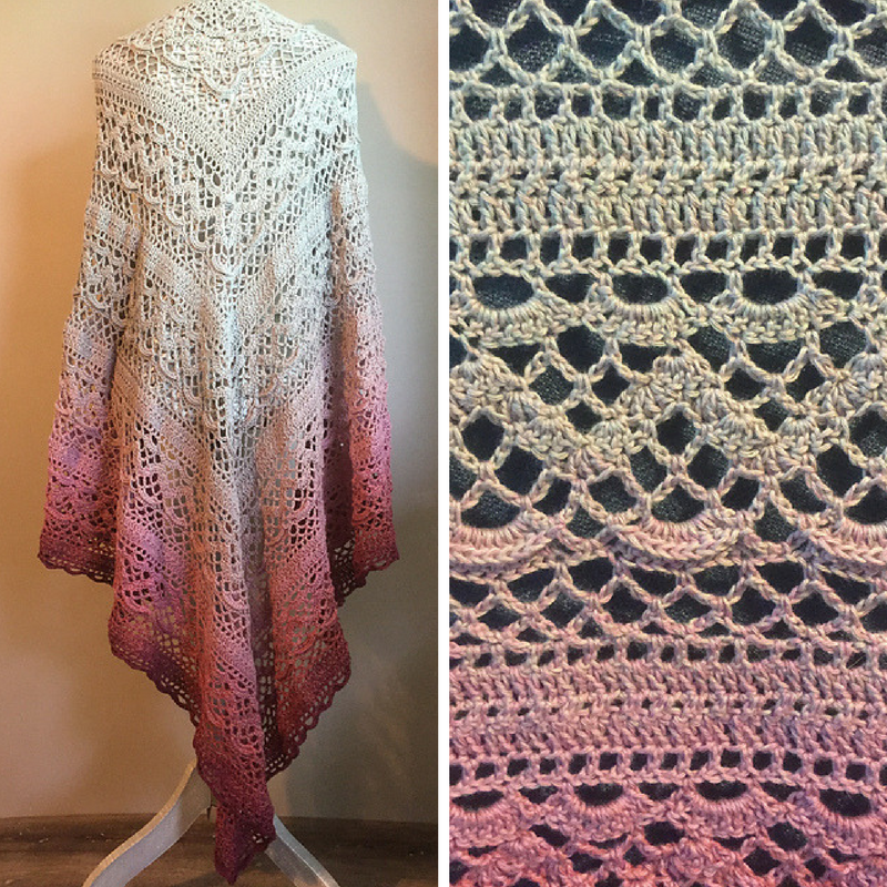 Free Pattern Absolutely Gorgeous Triangular Shawl With A Brilliant