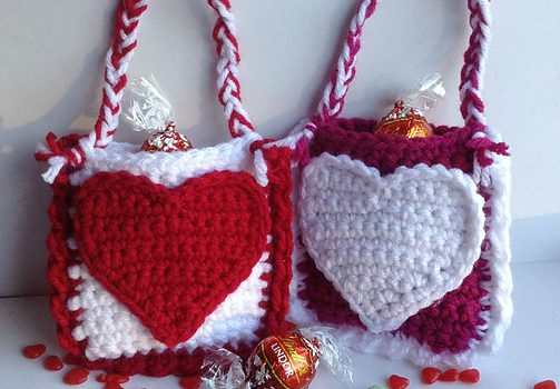 Free Pattern Really Cute Valentine S Day Treat Bags Knit And