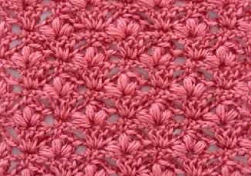 Learn A New Crochet Stitch Cherry Blossoms Stitch Knit And