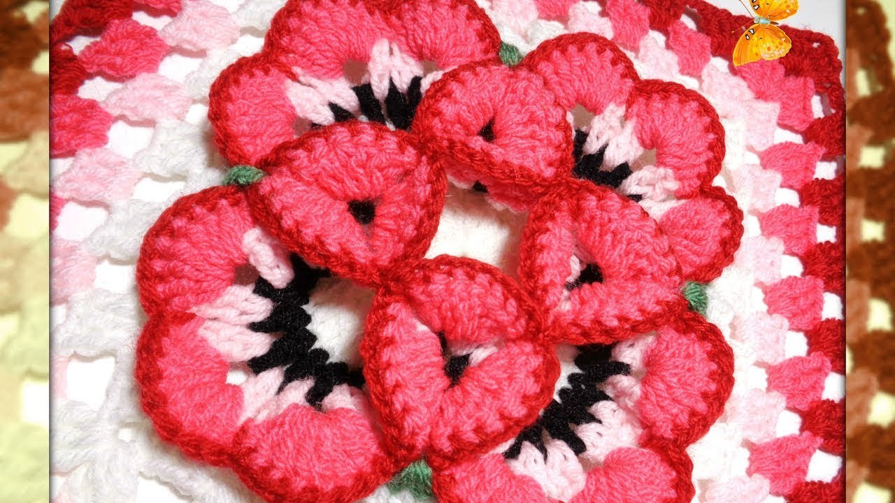 Free And Fabulous Crochet 3D Flower Granny Square Pattern - Knit And ...