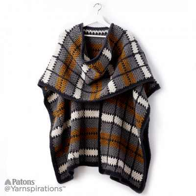 [Video Tutorial] The Easiest Way To Crochet A Plaid Pattern (Poncho Pattern Included!)