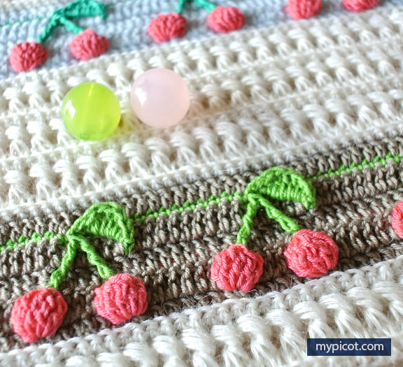 Learn A New Crochet Stitch: Cherries And Flowers
